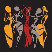 image of  dancer  - Figures of african dancers - JPG