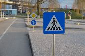 image of traffic rules  - Driver training area to learn the traffic rules - JPG