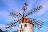 pic of canary  - Vintage Wind Mill in Gran Canaria Canary Islands Spain - JPG
