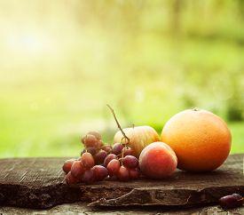 stock photo of fruit  - Fresh fruit - JPG
