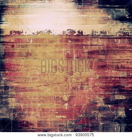 Abstract grunge background or old texture. With different color patterns: yellow (beige); brown; purple (violet); black
