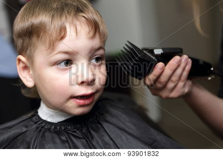 Child Getting Haircut