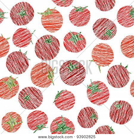 Endless tomato texture, seamless vegetable background. Abstract Vegetarian backdrop.