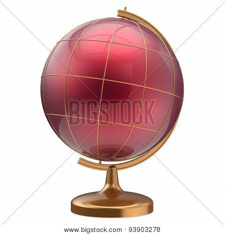 Globe Blank Red Planet Mars Cartography Education Icon
