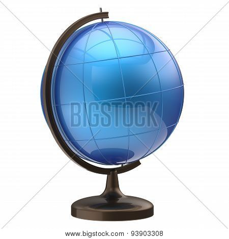 Globe Blank Blue Sphere Earth Planet International World