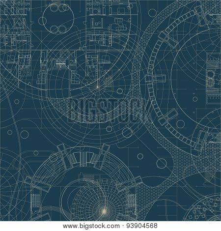 Blueprint. Architectural plan.