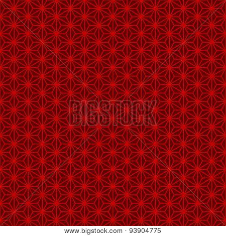 Seamless Chinese style traditional red geometry tracery pattern.