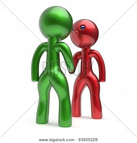Handshake Cartoon Characters Two Men Shaking Hand Deal