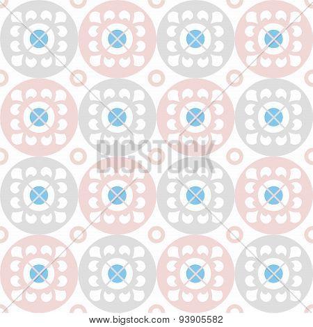 Seamless Pattern Of White Flo...
