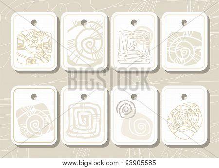 Tags, Labels, Sea Shell, Sea,...