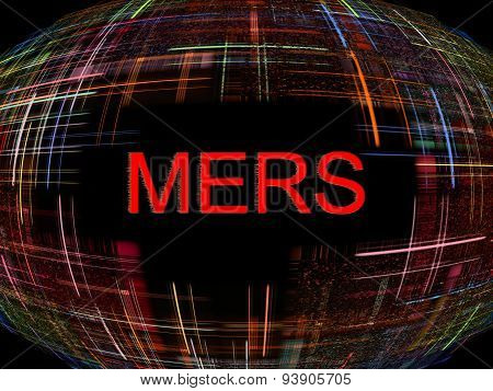 Mers Virus Epidemic Concept.digitally Generated Image.