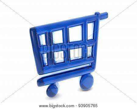 Balloon Shopping Cart Symbol