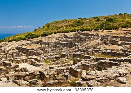 Ancient city of Kameiros on the island of Rhodes.