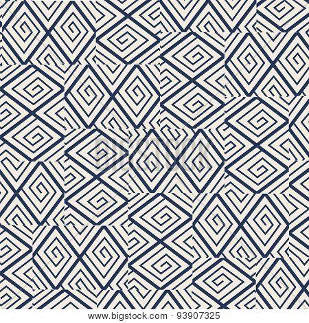 Diamond check line random assembled pattern background.