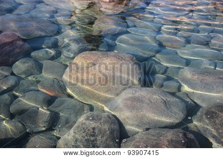 Shallow Meditation Reflections On Water Polished Stones