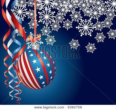 Blue Patriotic Christmas