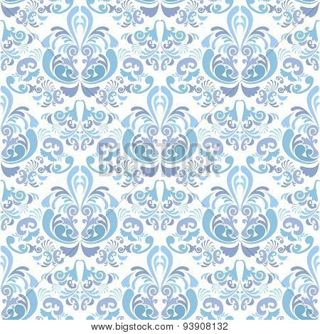 Abstract Damask Baroque Background