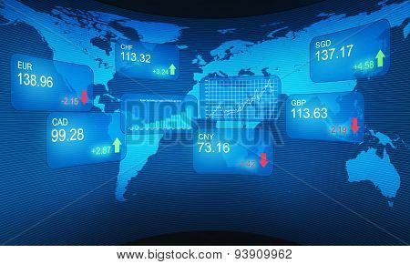 Stock exchange concept