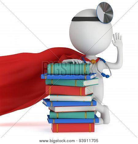 Superhero Doctor With Books