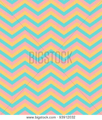 Beige and blue chevron seamless pattern background vector