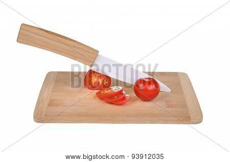 Ceramic Knife And Vegetables