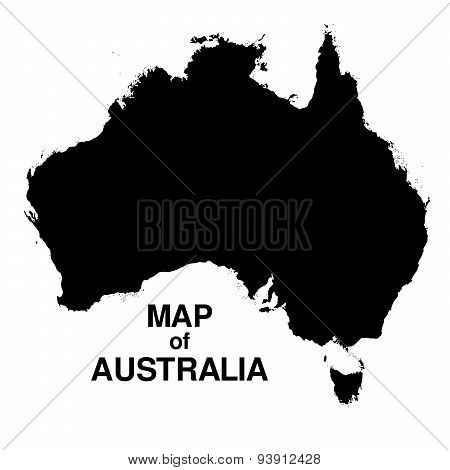 Map Of Australia Silhouette Background
