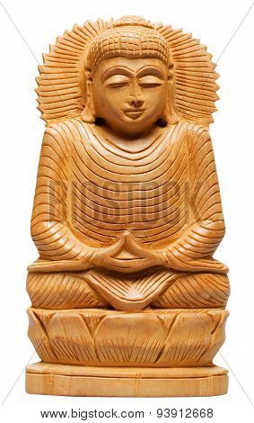 Wooden Buddha Statue From Nepal