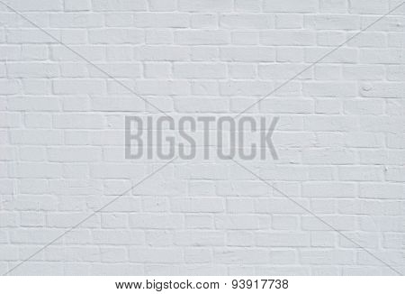 Brick Wall With White Whitewashing Close Up