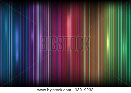 Bright colored stripes effect of the Northern lights dark backgr