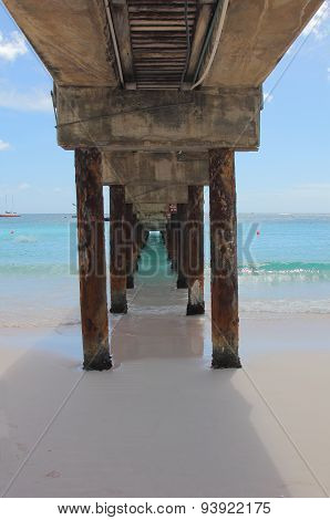 Under the Boardwalk Pier Barbados