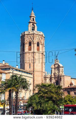 Miguelete Tower And Cathedral In Valencia