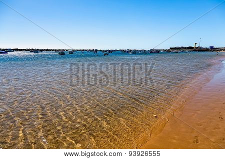 Waves On Yellow Sand On Beach Las Teresitas