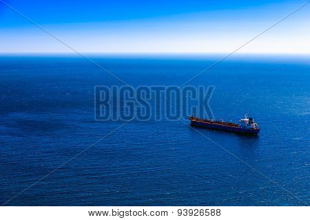 Empty Container Cargo Ship