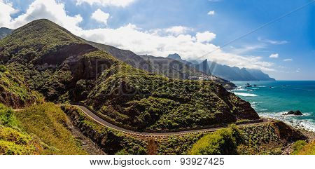 Road Near Coast Of Ocean Panorama