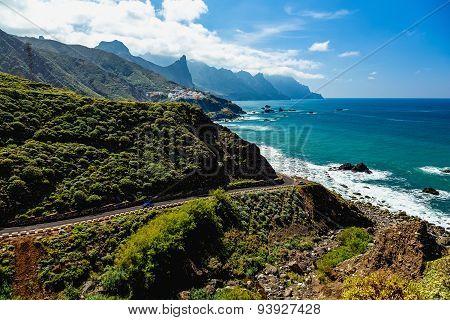 Road Near Coast Of Ocean