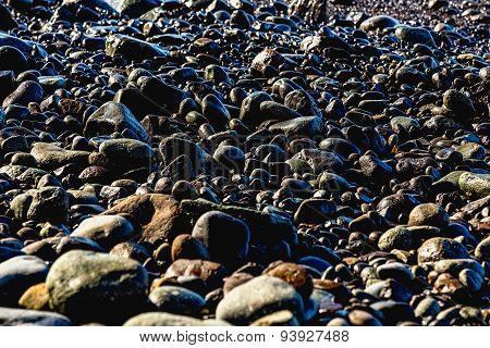 Stones On The Beach Coast