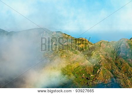 Clouds Over Mountain Landscape