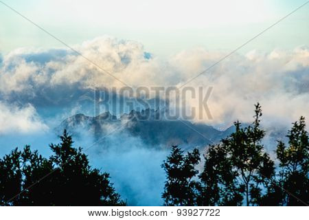 Clouds Over Mountain And Sky Horizon
