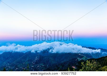 Landscape With Clouds Over Mountain