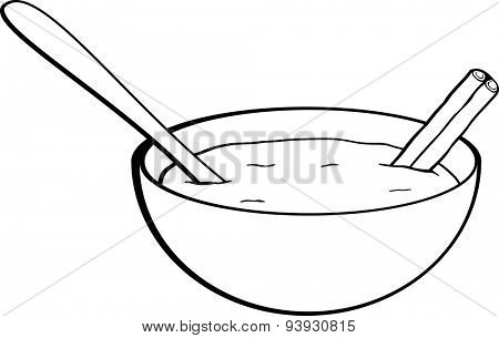 rice pudding with cinnamon stick