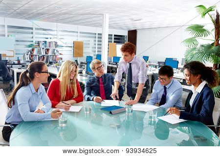 Executive business people team meeting at office teamwork young multiracial