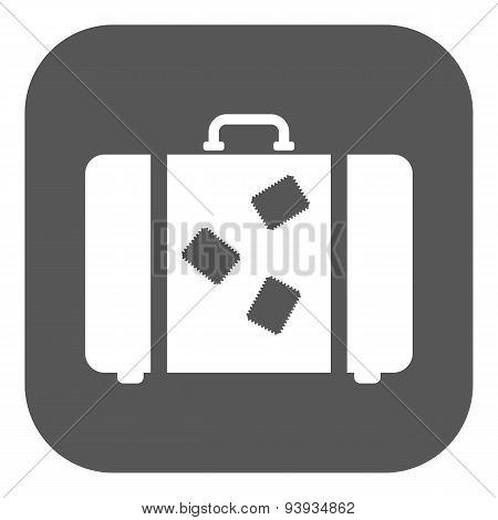 The Suitcase Icon. Luggage Symbol. Flat