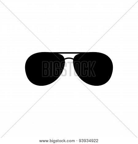 The Sunglasses Icon. Glasses Symbol. Flat