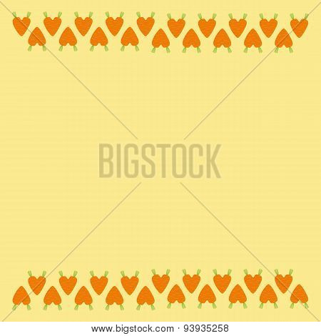 Carrot Hearts Border