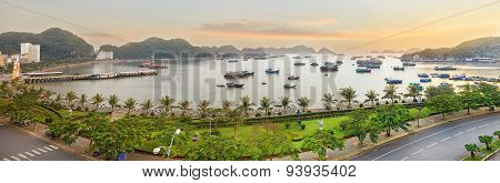 Cat Ba island viewpoint panorama