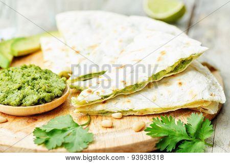 Cilantro Pesto Quesadilla