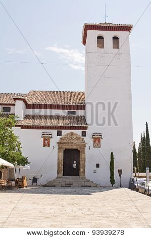 Church Of St. Miguel Bajo In Albayzin Quarter Of Granada (spain)