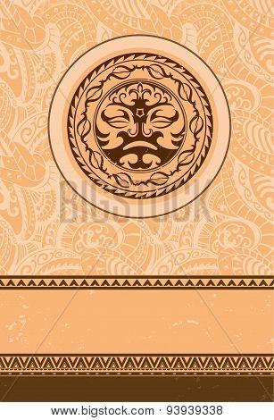 Ethnic Vintage Ornament Greeting Card