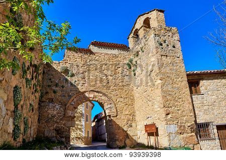 Canete Cuenca Puerta de la Virgen masonry door in Spain