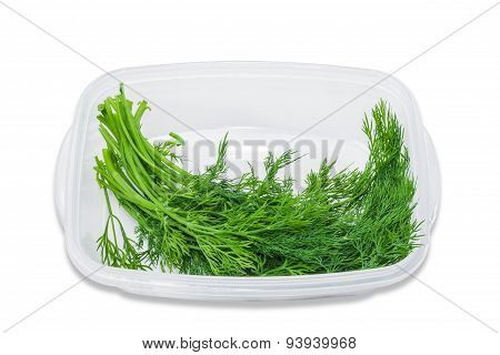 Plastic Tray With Dill